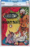 Golden Age (1938-1955):Classics Illustrated, Classic Comics #8 Arabian Nights - Original Edition (Gilberton,1943) CGC VF 8.0 Off-white to white pages....