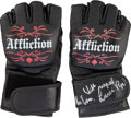 Miscellaneous Collectibles:General, 2000's Lucia Rijker MMA Fight Gloves. ...