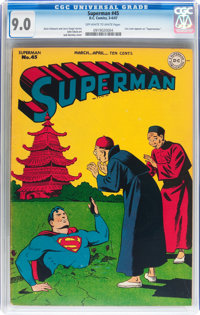 Superman #45 (DC, 1947) CGC VF/NM 9.0 Off-white to white pages