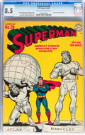 Golden Age (1938-1955):Superhero, Superman #28 (DC, 1944) CGC VF+ 8.5 Off-white to white pages....