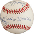 Autographs:Baseballs, Circa 1990 Triple Crown Winners Multi Signed Baseball with MickeyMantle, Ted Williams, Frank Robinson & Carl Yastrzemski....