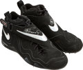 Baseball Collectibles:Others, 1998 Ken Griffey, Jr. Game Worn Signed Cleats. ...