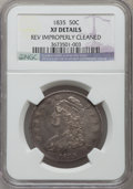Bust Half Dollars, 1835 50C -- Reverse Improperly Cleaned -- NGC Details. XF. NGCCensus: (59/691). PCGS Population (122/713). Mintage: 5,352,...