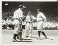Baseball Collectibles:Photos, 1933 Babe Ruth & Lou Gehrig at First All-Star Game NewsPhotograph, PSA/DNA Type 1....