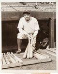 Baseball Collectibles:Photos, 1932 Babe Ruth Original News Photograph, PSA/DNA Type 1....
