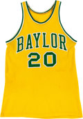 Basketball Collectibles:Uniforms, Early 1980's Terry Teagle Game Worn Baylor Bears Jersey....
