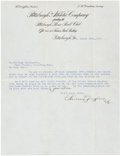Autographs:Others, 1917 Barney Dreyfuss Signed Letter to Billy Southworth, PSA/DNA Mint 9....