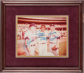 Autographs:Photos, 1980's Mickey Mantle, Willie Mays & Harmon Killebrew MultiSigned Photograph....
