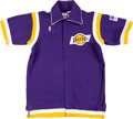 Basketball Collectibles:Uniforms, 1990 Terry Teagle Game Worn Los Angeles Lakers Warm Up Uniform....