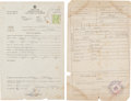 Baseball Collectibles:Others, 1980's Martin Dihigo Official Birth & Death Certificates....