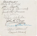 Autographs:Others, 1913 Philadelphia Athletics Multi Signed Sheet with Baker, Collins,Mack....