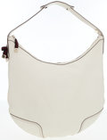 Luxury Accessories:Bags, Gucci White Leather Hobo Bag with Web Stripe Bow Detail. ...