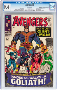 The Avengers #28 Don/Maggie Thompson Collection pedigree (Marvel, 1966) CGC NM 9.4 White pages
