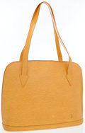 Luxury Accessories:Bags, Louis Vuitton Yellow Epi Leather Lussac Tote Bag. ...