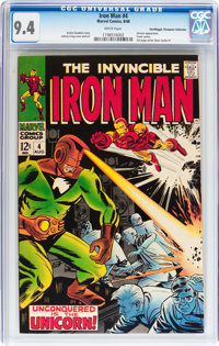 Iron Man #4 Don/Maggie Thompson Collection pedigree (Marvel, 1968) CGC NM 9.4 White pages