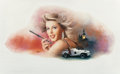 Pin-up and Glamour Art, RON LESSER (American, 20th Century). All the Days of My Life,paperback cover, 1986. Oil on board . 10.5 x 21.5 in. (ima...