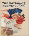 Mainstream Illustration, WILLIAM FULTON SOARE (American, 1896-1940). George WashingtonThe Saturday Evening Post preliminary cover. Oil with pape...