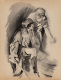 Mainstream Illustration, ANDERS JOHANSSEN (American, 20th Century). The Pirates.Watercolor on paper laid on board. 25 x 18.75 in. (image). Signe...