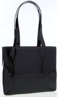 Luxury Accessories:Bags, Chanel Black Patent Leather Tote Bag. ...