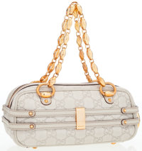 Gucci Beige Guccissima Leather Mini Tote Bag with Gold Chain Handles
