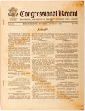 Books:Americana & American History, [US Congress]. Congressional Record. Proceedings and Debatesof the 90th Congress, First Session. June 27, 1967....