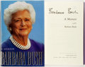 Books:Biography & Memoir, Barbara Bush. SIGNED. A Memoir. New York: Scribner's,[1994]. First edition, first printing. Signed by the author ...