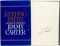 Books:Biography & Memoir, Jimmy Carter. SIGNED. Keeping Faith. Bantam Books, [1982].First trade edition. Signed by the author. Publisher'...