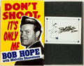 Books:Biography & Memoir, Bob Hope. SIGNED. Don't Shoot, It's Only Me. New York: Putnam's, [1990]. First edition, first printing. Signed by ...
