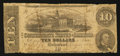 Confederate Notes:1862 Issues, T52 $10 1862 PF-16 Cr. 374.. ...