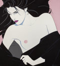 Pin-up and Glamour Art, PATRICK NAGEL (American, 1945-1984). Untitled (Her Look),1983. Acrylic on canvas. 36 x 33 in.. Signed and dated lower r...