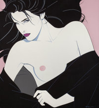 PATRICK NAGEL (American, 1945-1984) Untitled (Her Look), 1983 Acrylic on canvas 36 x 33 in. Si