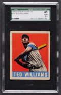 Baseball Cards:Singles (1940-1949), 1948 Leaf Ted Williams #76 SGC 45 VG+ 3.5. ...