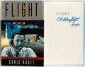 Books:Biography & Memoir, Chris Kraft. SIGNED. Flight: My Life in Mission Control. NewYork: Dutton, [2001]. First edition, first printing. ...