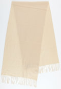 Luxury Accessories:Accessories, Hermes Cream Cashmere Stole. ...