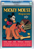 Platinum Age (1897-1937):Miscellaneous, Mickey Mouse Magazine V2#8 (K. K. Publications/ Western PublishingCo., 1937) CGC VF- 7.5 Off-white to white pages....
