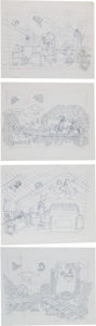 Animation Art:Production Drawing, Walt Disney's The Aristocats Children's Book IllustrationOriginal Art Group (1980-90s).... (Total: 8 Items)