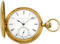 Timepieces:Pocket (pre 1900) , E. Howard & Co. Gold Series III With Mershon's PatentRegulator, circa 1869. ...