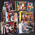 Boxing Collectibles:Memorabilia, 1974-98 Boxing Fight Programs and Publications Lot of 50+....