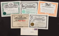 Baseball Collectibles:Others, 1923-62 Baseball Stock Certificates Lot of 5....