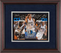 Basketball Collectibles:Photos, 2003-04 Dallas Mavericks Team Signed Calendar with DirkNowitzki....