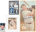 Autographs:Others, 1964-82 Mickey Mantle Signed Oversized Card Inserts Lot of 4....