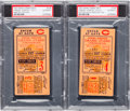 Baseball Collectibles:Tickets, 1927 New York Yankees vs. Pittsburgh Pirates World Series TicketStubs Lot of 2....