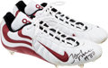 Football Collectibles:Others, 2000 Jerry Rice Game Worn, Signed Cleats....