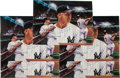 Baseball Collectibles:Photos, 1980's Mickey Mantle Signed Oversized Photograph - Lot of 5. ...