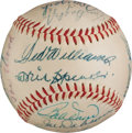 Baseball Collectibles:Balls, 1946 Boston Red Sox Team Signed Baseball With Speaker & Williams Sweet Spot!...