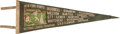 Baseball Collectibles:Others, 1937 New York Giants National League Champions Pennant With RosterListed. ...