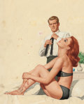 Pin-up and Glamour Art, STANLEY BORACK (American, b. 1927). The Thrill Makers, paperbackcover, 1962. Oil on board. 12.5 x 14 in. (image). Not s...