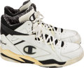 Basketball Collectibles:Others, Mid 1990's Robert Parish Game Worn, Signed Shoes....