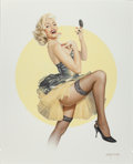 Pin-up and Glamour Art, GENNADIY KOUFAY (Russian, b. 1961). Pin-Up #14, 2011.Airbrush on board. 24 x 19 in.. Signed lower right. ... (Total: 2Items)
