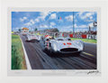 "Transportation:Automobilia, ""Summer Of 54"" Print By Nicholas Watts Signed By Juan Manual Fangio..."